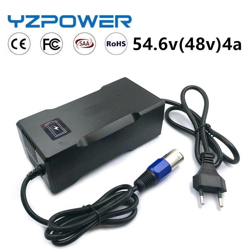 Умное зарядное устройство YZ POWER CE ROHS 54,6 в 4A для литиевых аккумуляторов 13S 48 В, литий-полимерный аккумулятор, электроинструмент для велосипеда...