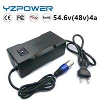YZPOWER CE ROHS 54,6 V 4A Smart Lithium-Batterie Ladegerät Für 13S 48V Lipo Li-Ion Batterie Elektrische Fahrrad power Tool Mit Lüfter