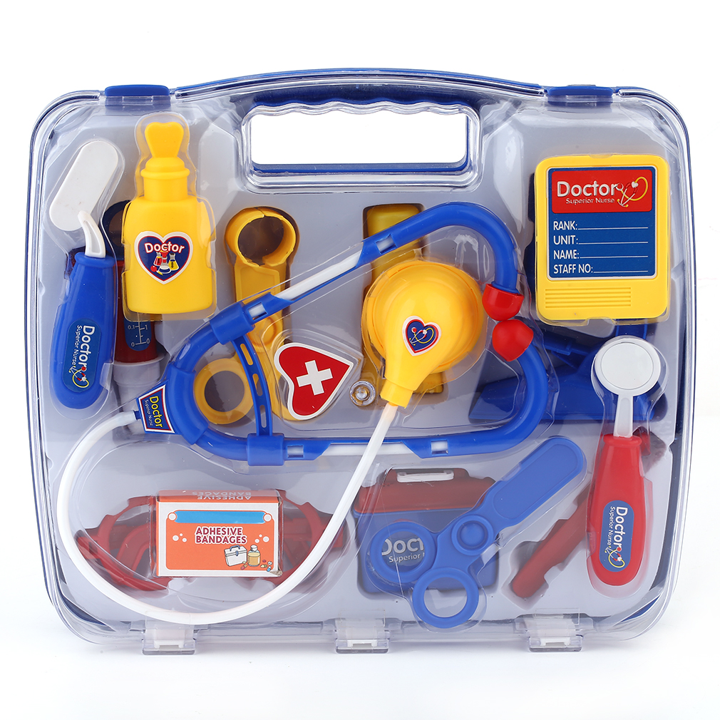 OCDAY Kids Educational Pretend Doctor Case Toy Set Children Medical Kit Doctor Case Juguetes Nurse Roleplay Toy Set Xmas Gifts