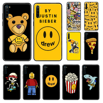Justin Bieber Drew Phone case For Xiaomi Redmi Note S2 4 5 6 7 8 A S X Plus Pro black luxury shell painting Etui 3D coque image