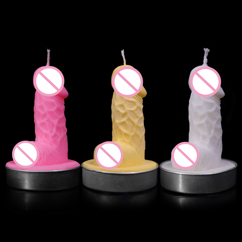 3D special male sexy penis Sex toys wax low temperature candles drip adult games sex toys for woman intimate sex products image