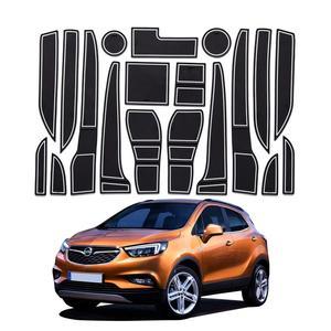 Lfotpp para opel mokka x 2018 2019 carro anti deslizamento esteira porta ranhura de borracha porta slot almofada estilo interior do carro decoração acessórios|  -