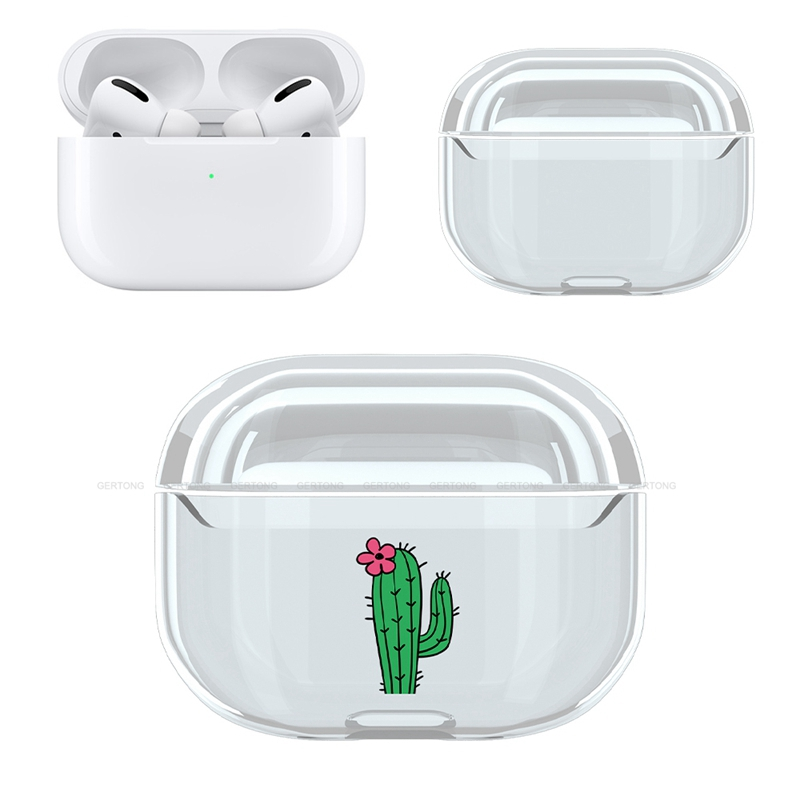 Cute Transparent Hard PC Protective Cover for AirPods Pro 15