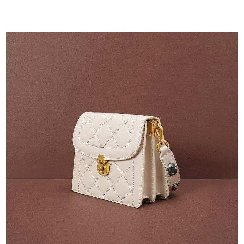 Bolsa de couro genuíno mulher bolsa destacável alça crossbody mini bolsa zip encerramento multi função bolsos aleta - 2