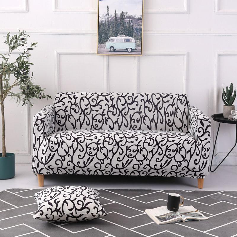 Чехол для дивана хлопковый с цветочным принтом диван Полотенца
