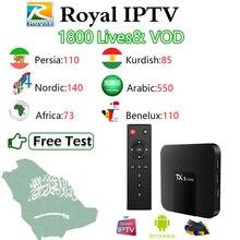 TX3 Mini 2G/16G+ IP tv Арабский Персидский скандинавский курдский IP tv Королевский IP tv m3u 1750Live Amlogic S905W 4K H.265 WiFi Android Smart tv Box