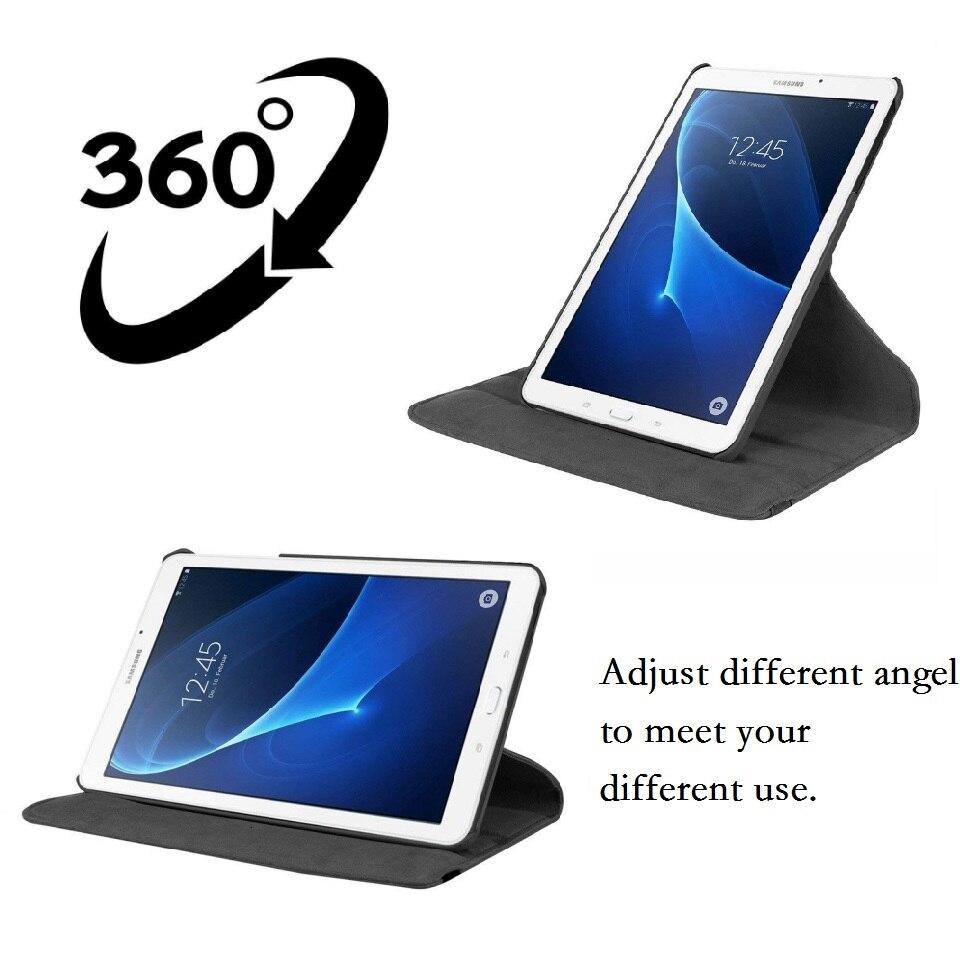 Чехол с функцией поворота на 360 градусов для Samsung Galaxy Tab A A6 7,0 2016 дюйма, чехол для телефона 360 дюйма, умный чехол из искусственной кожи для Samsung T280 T285, чехол-2