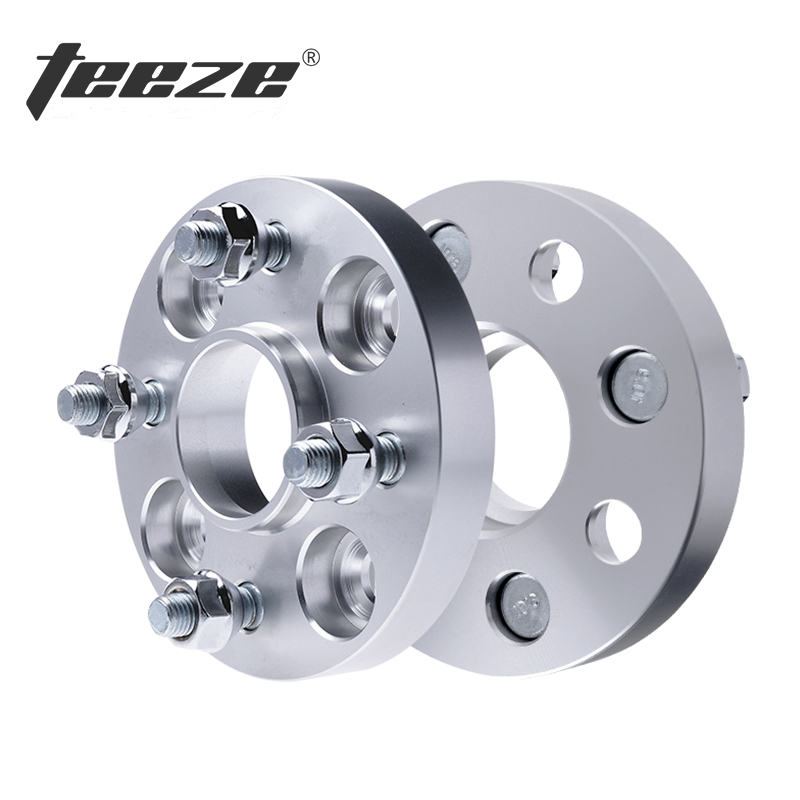 TEEZE 4 Lug 20mm Adapters Shims PCD 4x100 Wheel Spacer CB 57.1mm For E30 Aluminum Alloy Adaptador Rueda 1 Piece