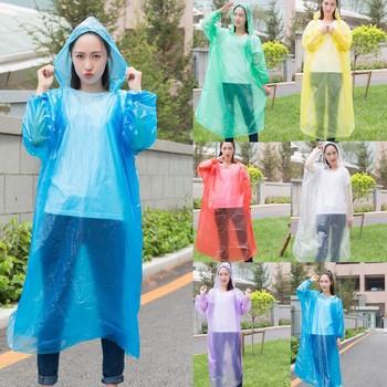 Pokrowiec przeciwdeszczowy przenośny płaszcz przeciwdeszczowy jednorazowy odkryty przezroczysty płaszcz przeciwdeszczowy z kapturem wodoodporna pyłoszczelna peleryna przeciwdeszczowa z kapturem Ponchos HOT tanie i dobre opinie ISHOWTIENDA CN (pochodzenie) RainWear Fashion Raincoat Jednorazowe przeciwdeszczowa Jednoosobowy odzież przeciwdeszczowa
