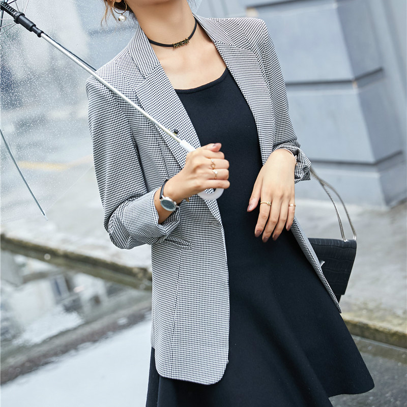 2020 Fashion Casual Women Blazer and Jackets Grey Office Ladies Coat Outerwear Clothes Female Elegant Formal Office Work Wear