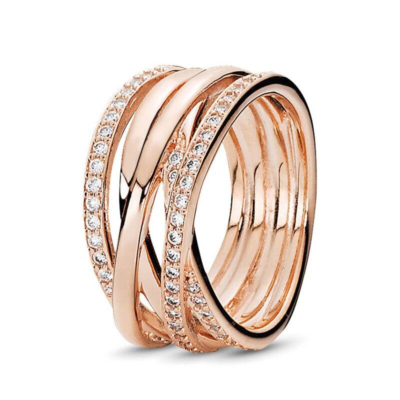 Кольцо на палец в форме сердечко серебряного цвета для женщин, европейская оригинальная Корона, изящные кольца на палец, свадебные украшения, 50 стилей, Прямая поставка - Цвет основного камня: Rings 031