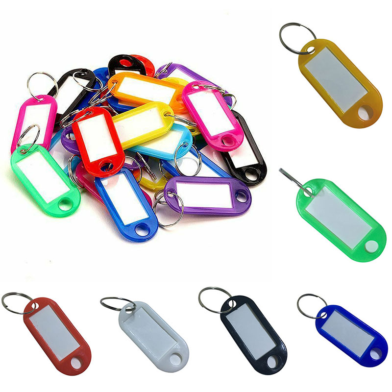 30pcs/pack Key Ring Key Tag Card Buckle Keychains Classification Room Key Luggage Tag Label Brand Licensing Category Key Holder