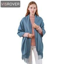 Женский кашемировый шарф visrover роскошный брендовый зимний