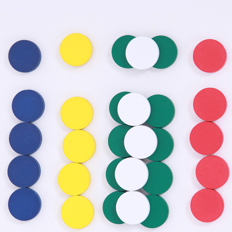 Montessori Educational Wooden Toys For Kids Wooden Round Plate Colorful Circle Montessori Materials Sensorial Toys