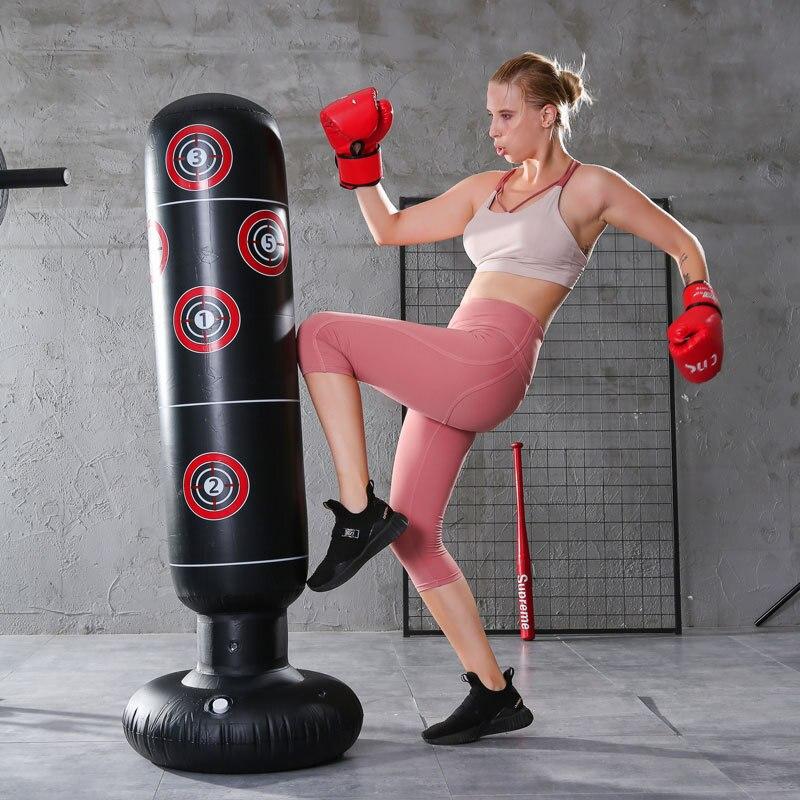 1249.82руб. 35% СКИДКА|Стоящая боксерская колонна пробивая мешок надувной стакан фитнес декомпрессии мешки с песком Kick Boxeo Тхэквондо боевые|Боксерские груши и мешки с песком| |  - AliExpress