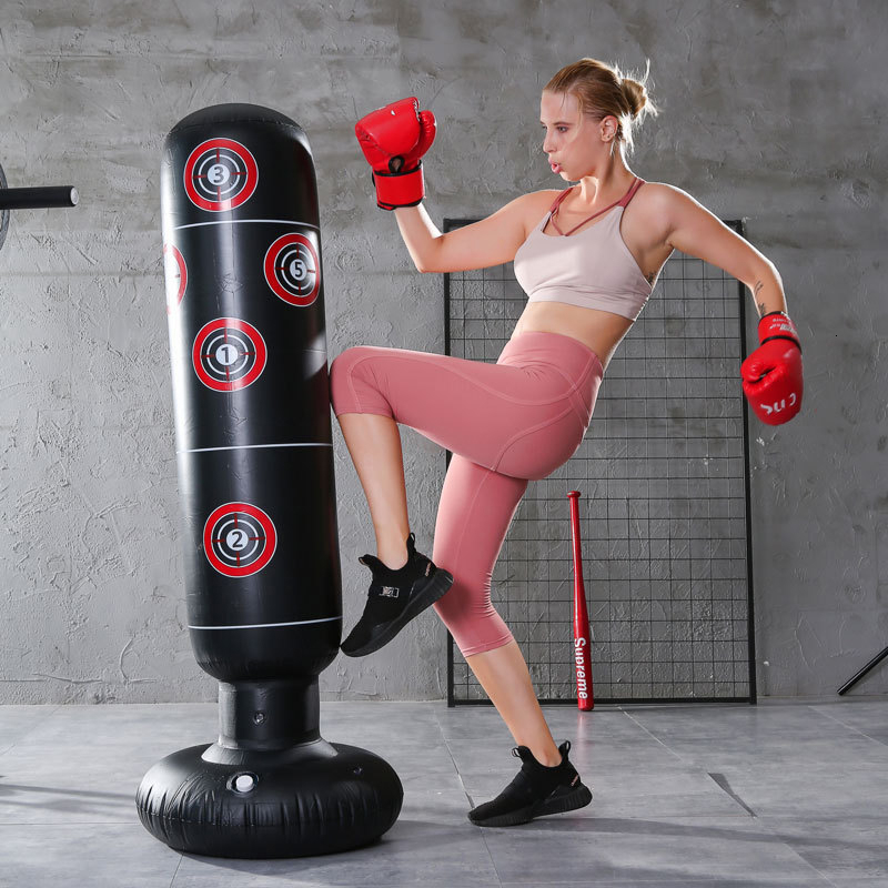 Standing Boxing Column Punching Bag Inflatable Tumbler Fitness Decompression Sandbags Kick Boxe Boxeo Taekwondo Martial