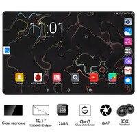 Black 6GB RAM 128GB ROM Gaming Tablet Octa Core 10 inch 8MP 1280x800 Full Screen Dual 2.5D Glass WIFI 4G FDD LTE Phone Pad