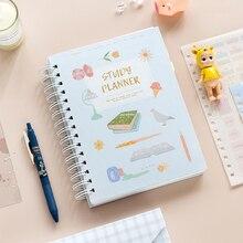 2020 Planner Coil NoteBook A5 Kawaii Palnner Book Bullet Journal Diary Annual Month Week Plan Cartoon Flower Notebook