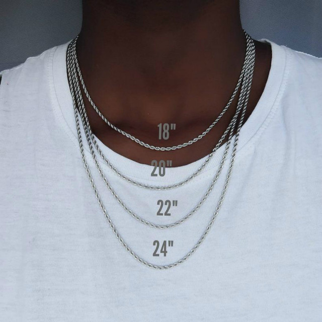 2020 Fashion Rope Chain Necklace Men Temperament 3mm Width Stainless Steel Chain Necklace For Men Jewelry Gift 2