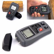 Двухконтактный цифровой измеритель влажности древесины 0 999%