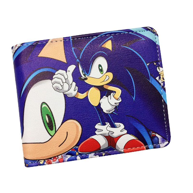 Sonic The Hedgehog Cartoon PU Wallet Anime Supersonic Wallets For Student Teenager Holder Purse