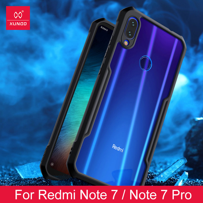 For Xiaomi Redmi Note 7 7 cc9 Pro Transparent Acrylic TPU XUNDD Phone case for Innrech Market.com