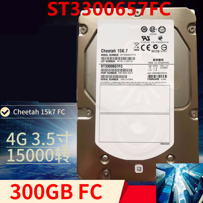 """New HDD For Seagate Brand 300GB 3.5"""" FC 4 Gb/s 16MB 15000RPM For Internal HDD For Enterprise Class HDD For ST3300657FC 1"""