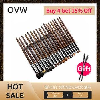 OVW Natural Goat Hair Eyeshadow Professional Makeup Brushes Crease Blending Shader kist' dlya teney brovey brochas maquillaje
