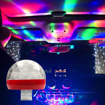 2pcs Car Interior Atmosphere Neon Lights Color LED USB RGB Decor Music Lamp image