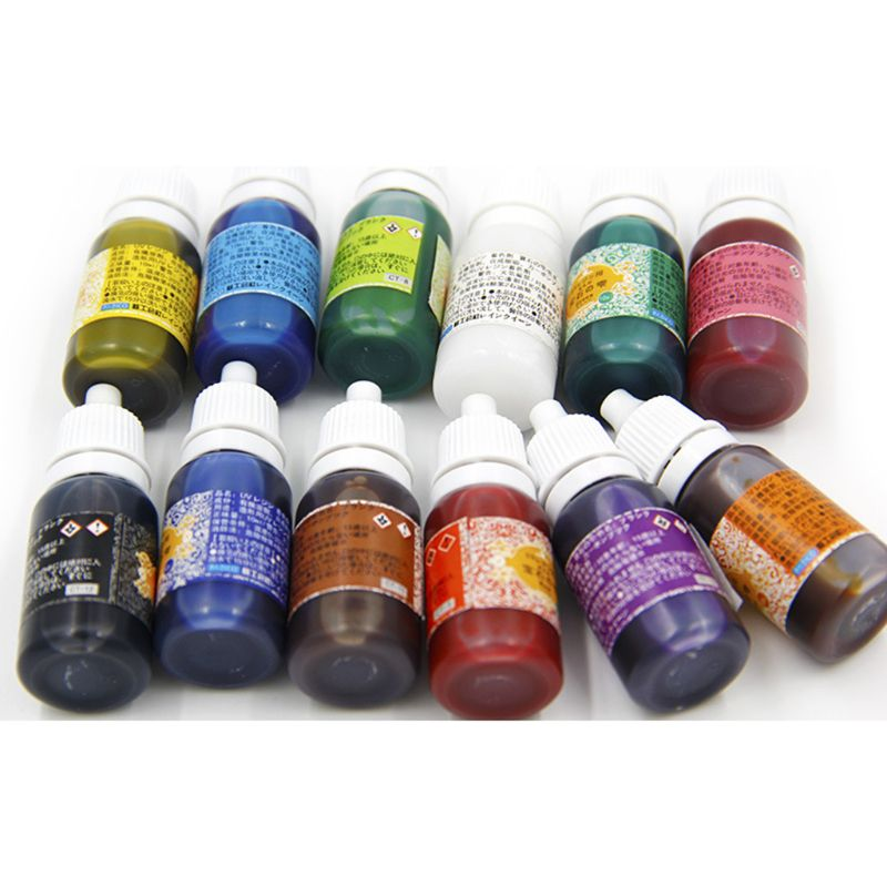 12 Color UV Resin Ultraviolet Curing Resin Liquid Pigment Dye Handmade Art Craft 95AD