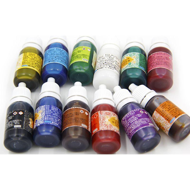 12 cores uv resina ultravioleta cura resina pigmento líquido tintura artesanal arte artesanato 95ad