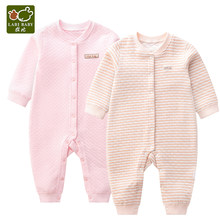 LABIBABY 2 Pieces Long Sleeve Rompers Overalls Newborn Clothes Unisex Baby Boy Jumpsuit for Infant Girl 3-9 Months(China)