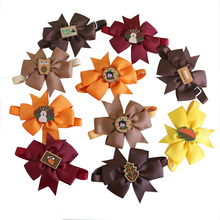 60pc Thanksgiving Dog Accessories Pet Cat Bow Tie Small Ties Puppy Bowtie Collar Fall products for dogs
