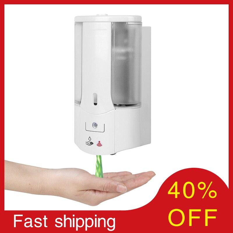 400ml Automatic Soap Dispenser Touchless Sensor Hand Sanitizer Shampoo Detergent Dispenser Wall Mounted For Bathroom Kitchen
