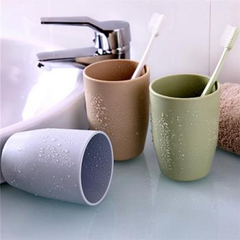 2 sztuk kubek do mycia do mycia kufel kubek kubek dla par szczoteczka do zębów z tworzywa sztucznego szczotka do mycia kubek do mycia zębów tanie i dobre opinie Jednolity kolor