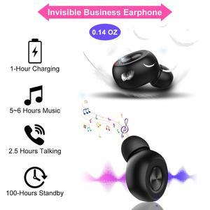 Image 2 - GOOJIDOQ 5,0 auriculares, inalámbricos por carga USB Bluetooth con, Mini auriculares deportivos para coche con micrófono para iPhone y xiaomi