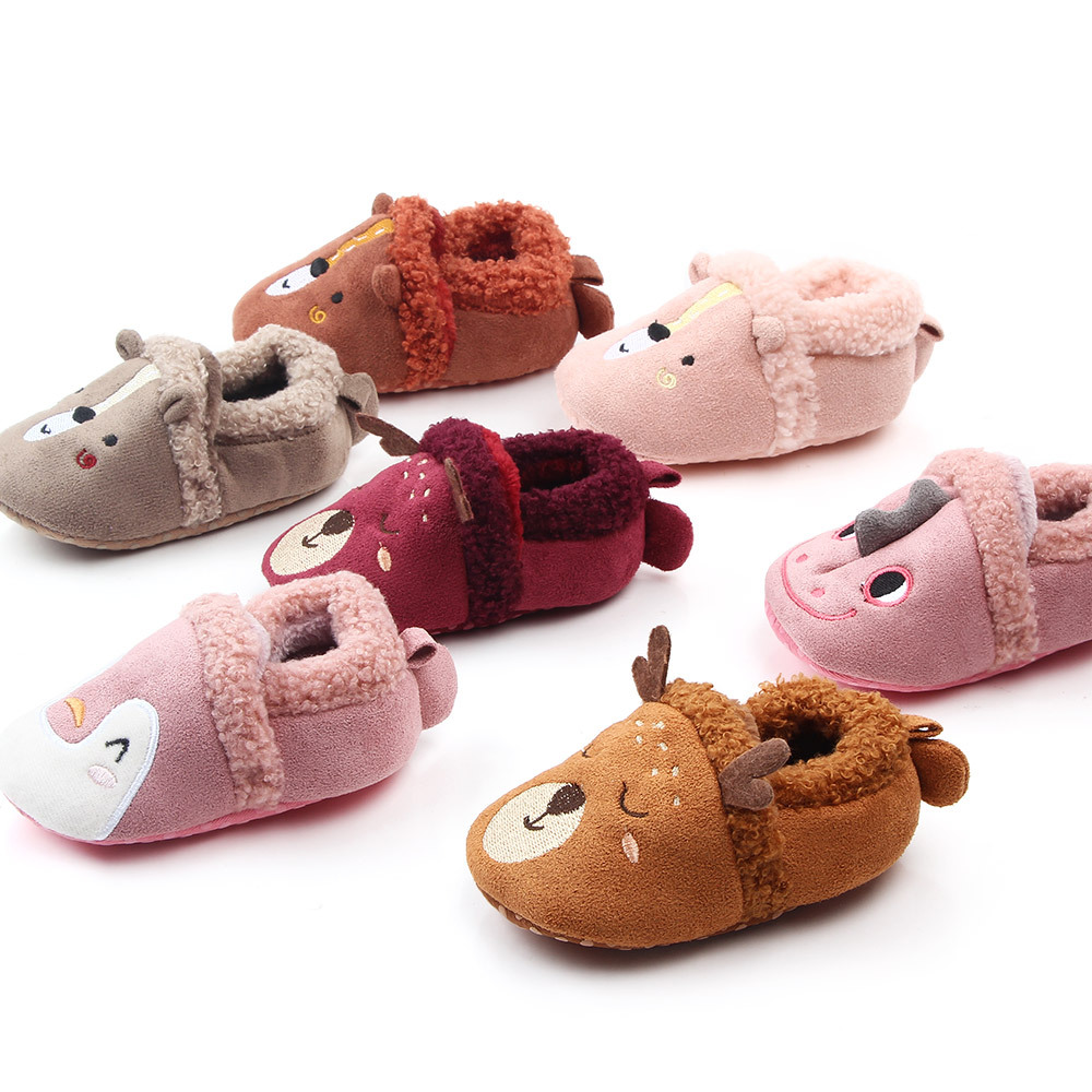 Newborn Baby Boys Girls Boots Booties Lovely ChristmasSoft Sole Antiskid Prewalkers Toddlers Infant First Walke
