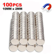 Magnet 100Pcs Mini Small N35 Round 10x2 mm Neodymium Magnet Permanent NdFeB Super Strong Powerful Magnets #YL10(China)