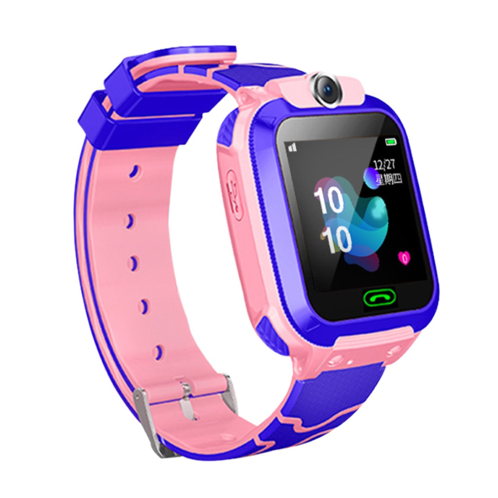 Kids LBS Locator Tracker Smart Watch Telephone SOS Anti-Lost Waterproof Watch For Ios For Android For Iphone 2 Colours #20