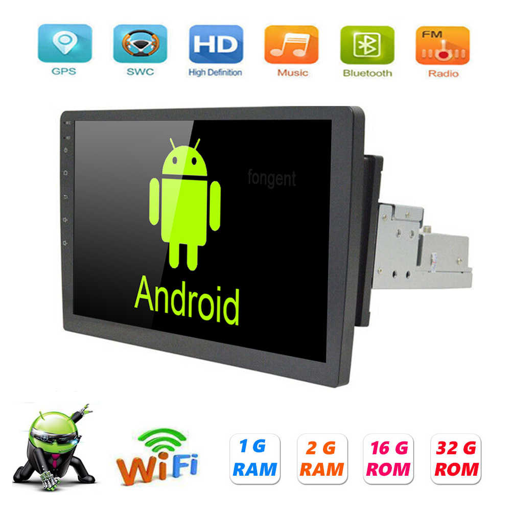 "9/10.1 ""1 Din Android 9.1 Auto Radio Multimedia Video Player Gps Navigatie Wifi Auto Stereo Bluetooth Fm Usb Spiegel link"