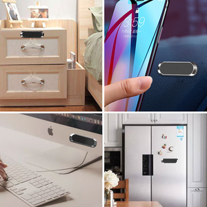 Image 5 - Universal mini Strip Shape Magnetic Car Phone Holder Stand For iPhone Samsung Huawei wall metal Magnet GPS Car Mount Dashboard