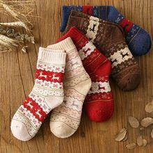 EIE Winter Women's Socks Lady Christmas Gift Fashion Winter Cute Wool S