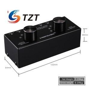 Image 2 - TZT переключатель аудиовхода, переключатель аудиовхода, переключатель сигнала, поддержка 6 в 2 OUT и 2 в 6 OUT 3,5 мм порты