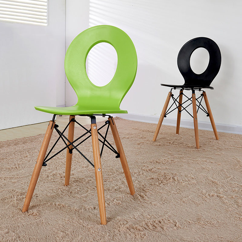 Modern Solid Wood ABS Plastic Chair Dining Chairs for Dining Rooms Home Restaurant Bedroom Study KitchenABS Plastic Dining Chair   - title=
