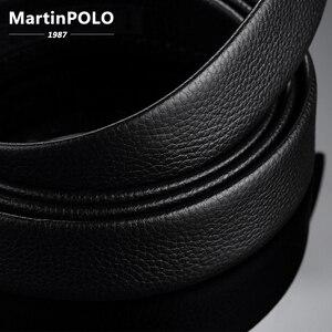 Image 5 - MartinPOLO 남자 벨트 럭셔리 자동 버클 Genune 가죽 스트랩 블랙 망 벨트 디자이너에 대 한 브랜드 고품질 MP02801P