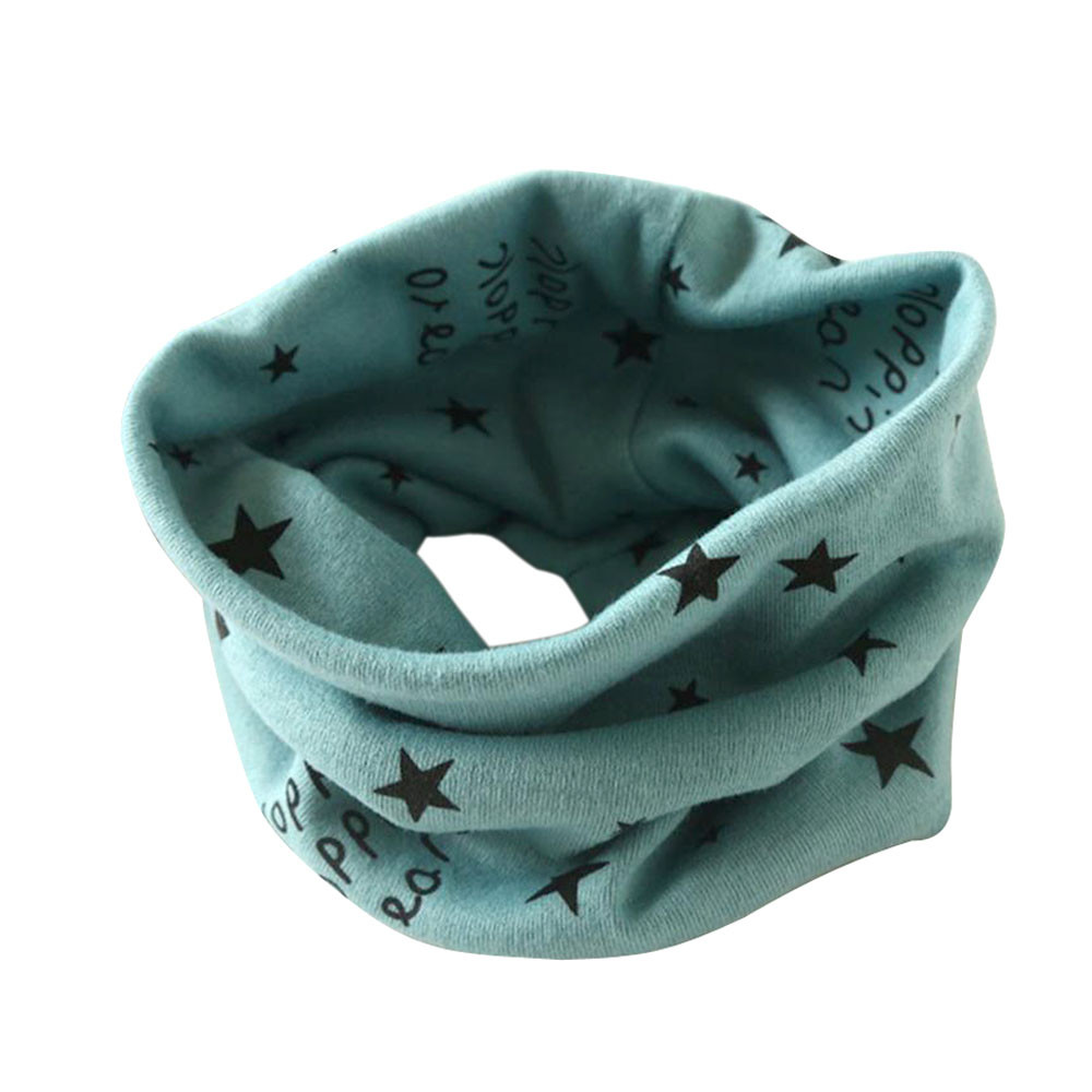 New Trendy Boy Girl Autumn Winter Collar Baby Scarf Cotton O Ring Neck Scarves Lucky Star Print For Child Scarf  #P5