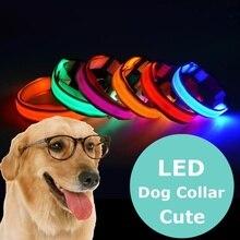 LED Pet Dog Collar Safety at night Dog Leash Fluorescent Collars Pet Supplies Anti-Loss / Avoid Car Accidents Dog Collar perro led pet nylon dog collar night safety flashing glow in the dark dog leash dogs luminous fluorescent collars collar perro