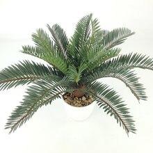 Тропическое пальмовое дерево высота 45 см искусственное зеленое