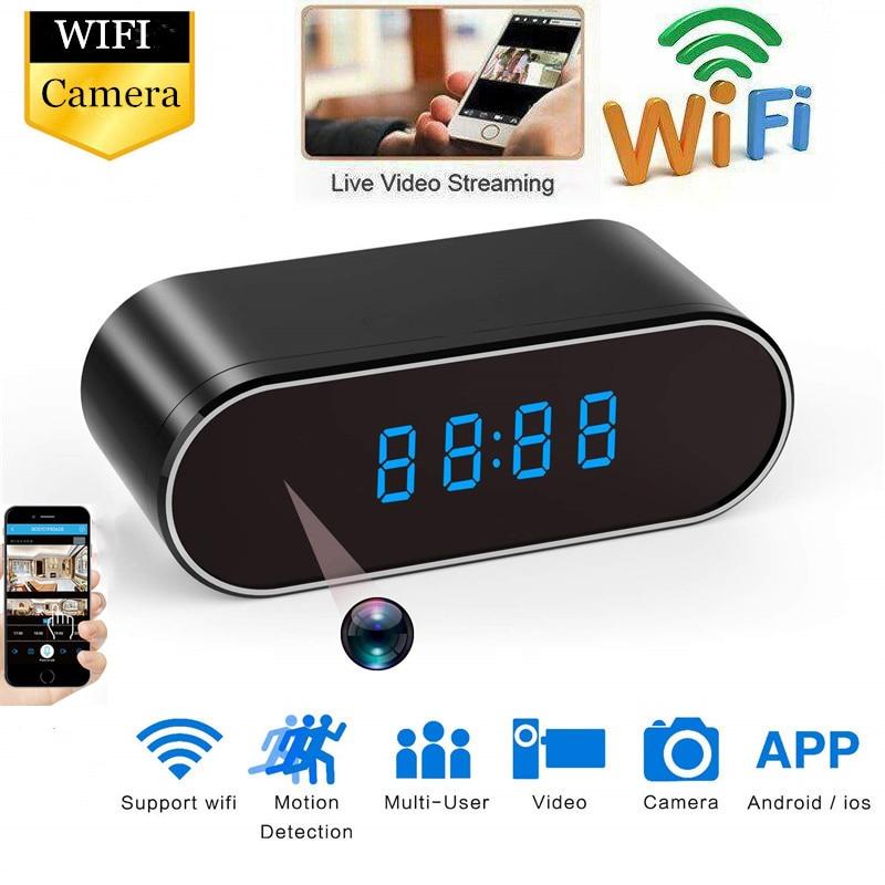 HD Clock WiFi Camera Mini IP Home Security Camcorder P2P Night Vision Alarm Motion Remote Smart CCTV Camera IP Hotspot Cam Espia