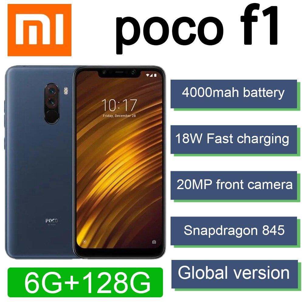 Глобальная версия xiaomi poco f1 Смартфон Snapdragon 845 2246*1080 пикселей 4000mah батарея 20MP фронтальной камеры быстрого заряда 18 Вт
